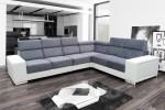 Carolina - Lux 05 svetlosivá + eko koža Soft 31 biela