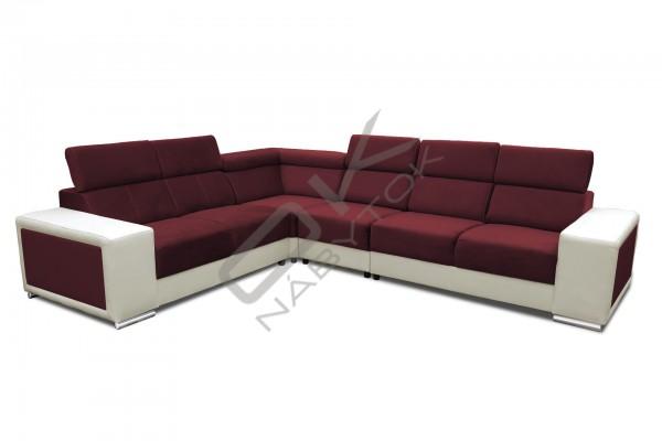Rohová rozkladacia sedacia súprava CAROLINA - široký výber farieb