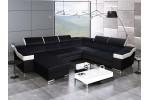 Dante U Panoramic - Lux 23 čierna + eko koža Soft 31 biela