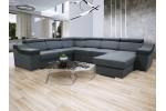 Dante U Panoramic - Lux 06 tmavosivá + eko koža Soft 11 čierna