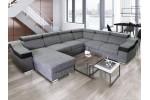 Dante U Panoramic - Berlin 01 svetlosivá + eko koža Soft 11 čierna