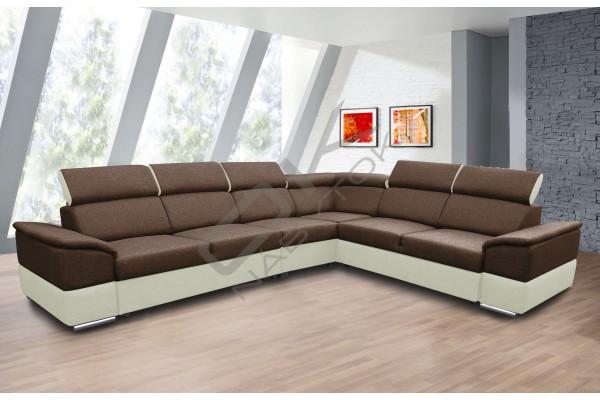 Rozkladacia sedacia súprava JOY L - hnedá/tmavohnedá