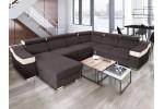Kamelia - Lux 19 tmavohnedá + eko koža Soft 17 biela