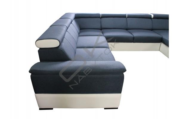 FENIX Rozkladacia sedacia súprava KAZARA - tmavočervená/biela