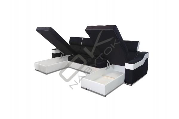 Univerzálna sedacia súprava MAGIC - tmavosivá/biela