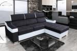 Spain - Lux 23 čierna + eko koža Soft 31 biela
