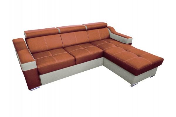 FENIX Rozkladacia rohová sedacia súprava TRISTAN - carrot/biela