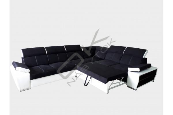 Rohová sedacia súprava BOBY - fialová/biela