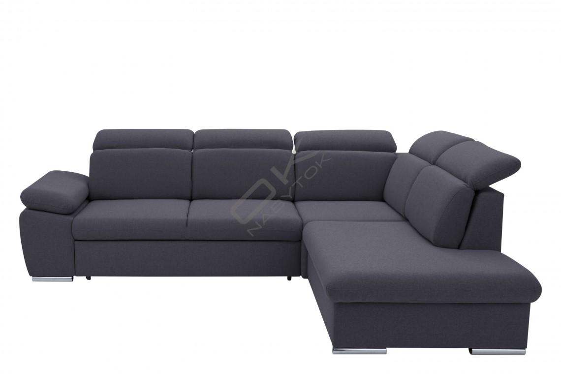 Moderná luxusná sedacia súprava ALDO - tmavosivá
