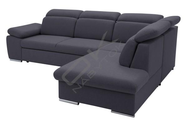 Moderná luxusná sedacia súprava ALDO - svetlosivá/čierna