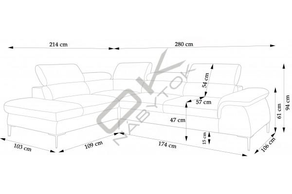 """Moderná sedacia súprava BERG """"Mega akcia"""" sivá"""