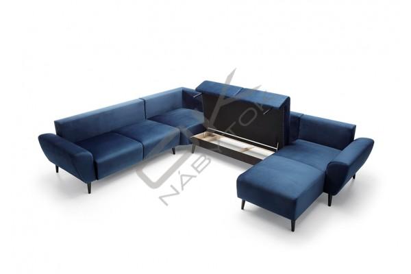 """Ultramoderná luxusná sedacia súprava BOSCO U """"Mega akcia"""""""