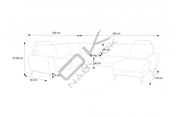 """Moderná sedacia súprava MONET II """"Mega akcia"""""""