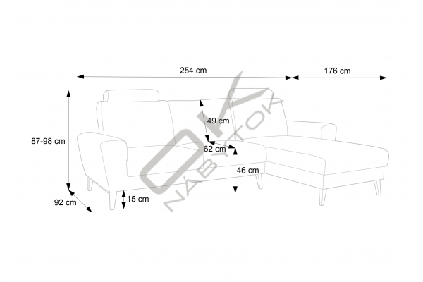 Moderná sedacia súprava MONET - široký výber farieb