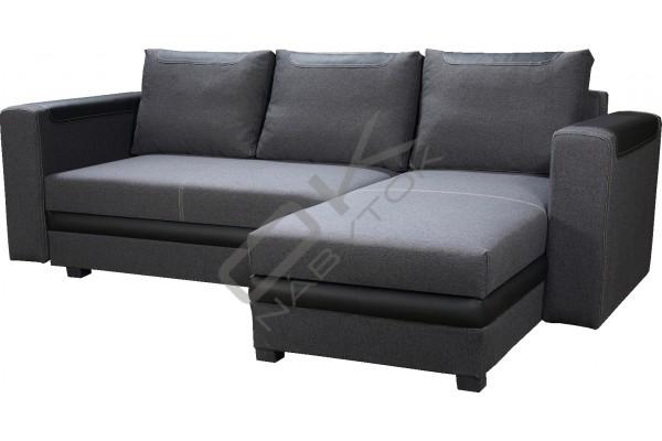 Rohová sedačka BONO - svetlohnedá/tmavohnedá