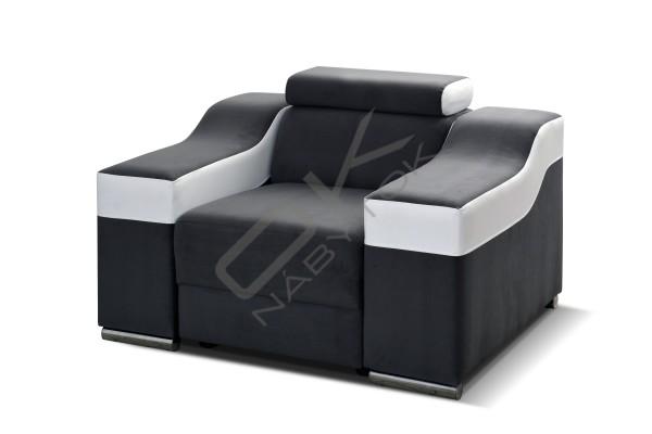 FENIX Univerzálna rohová sedacia súprava GALAXY (B+2+R+2+B) - cappuccino/tmavohnedá