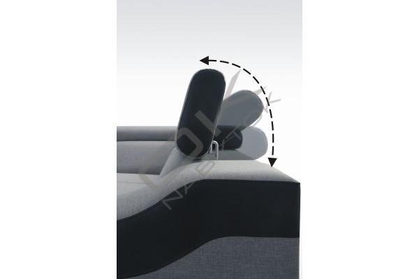 FENIX Univerzálna rohová sedacia súprava GALAXY  (B+1+R+3+B) - široký výber farieb