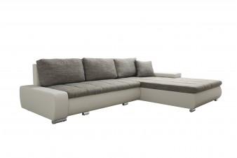 Rohová univerzálna sedacia súprava HERKULES - svetlosivá/biela