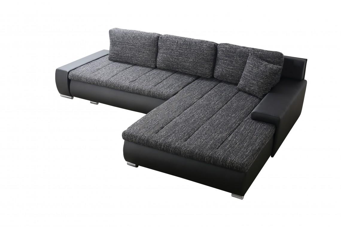Rohová univerzálna sedacia súprava HERKULES - čierna