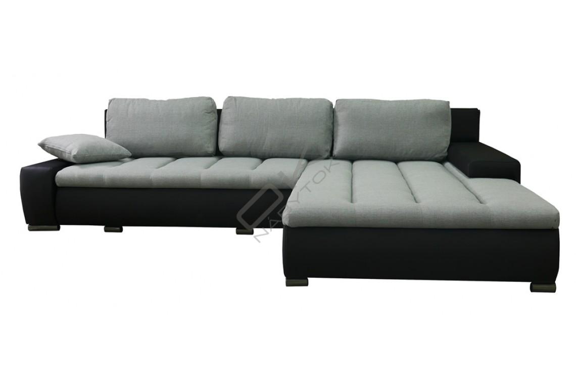 Rohová univerzálna sedacia súprava HERKULES - svetlohnedá/tmavohnedá