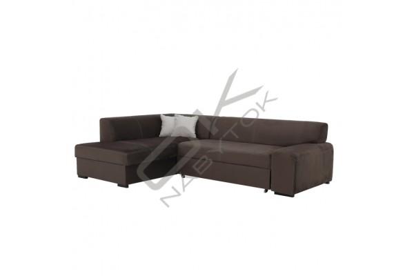 Rohová sedacia súprava MINOS - zemitá (sivohnedá)