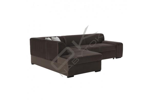 FENIX Rohová sedacia súprava MINERVA - tmavohnedá