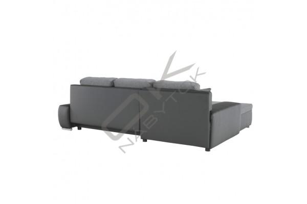 Rohová sedacia súprava TARO - sivá/tmavosivá