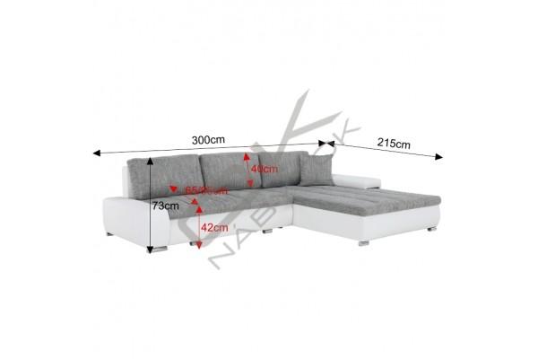 FENIX Rohová univerzálna sedacia súprava TONIKS - svetlohnedá/tmavohnedá