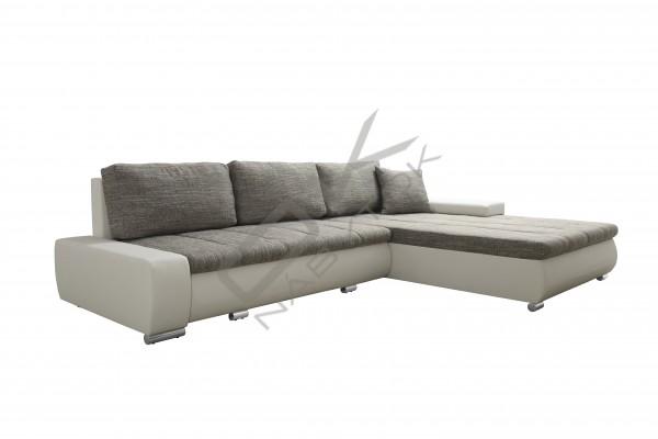 FENIX Rohová univerzálna sedacia súprava TONIKS - svetlosivá/biela