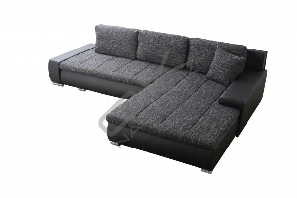 FENIX Rohová univerzálna sedacia súprava TONIKS - čierna