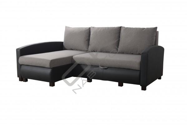 FENIX Rohová sedacia súprava VIPER - tmavosivá/čierna