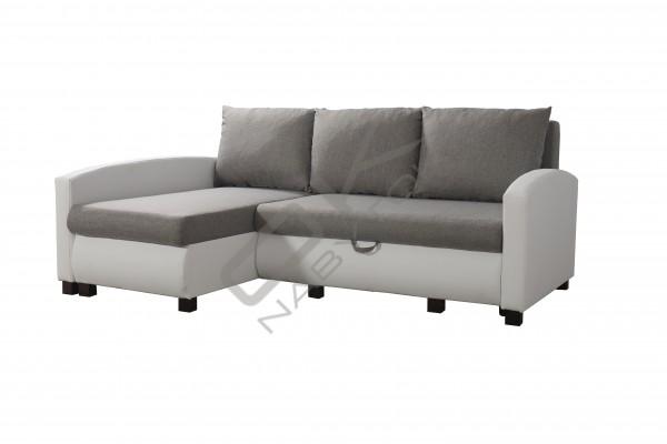 FENIX Rohová sedacia súprava VIPER - sivá/biela