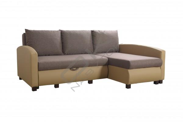 FENIX Rohová sedacia súprava VIPER - hnedá/cappuccino