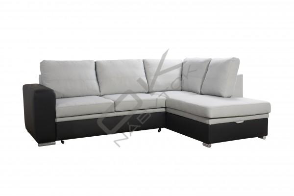 FENIX Rohová sedacia súprava WARAN - svetlosivá/čierna