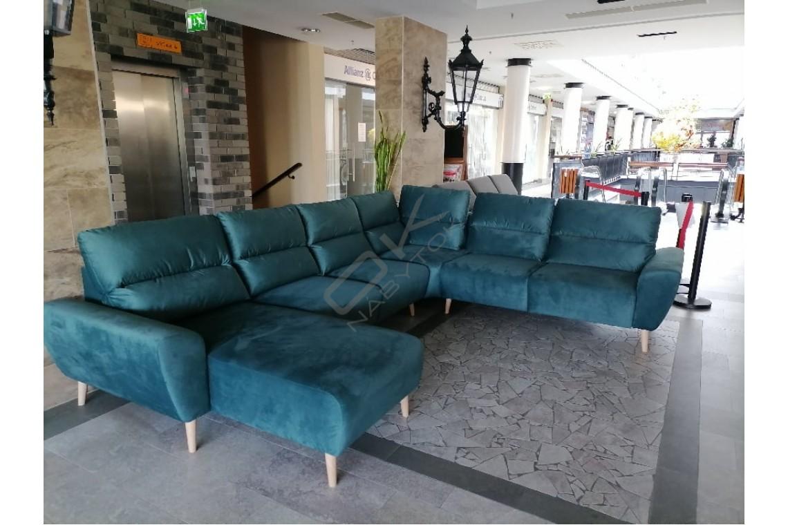 SKLADOM Ultramoderná luxusná sedacia súprava BOSCO U - zelená