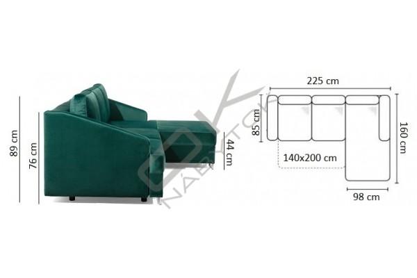 Rohová sedačka BUCCO - široký výber farieb