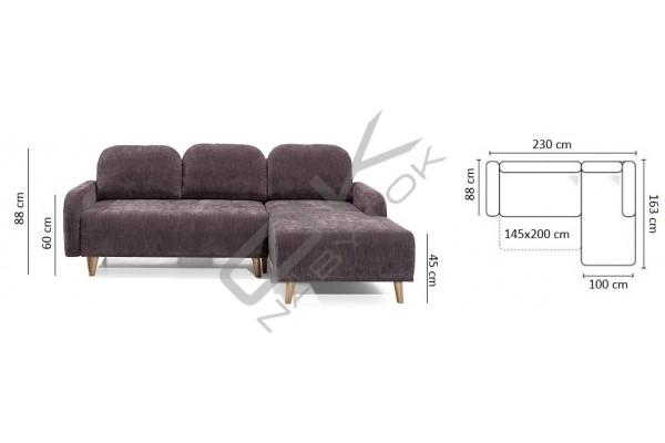 Rohová sedačka DOMI - široký výber farieb