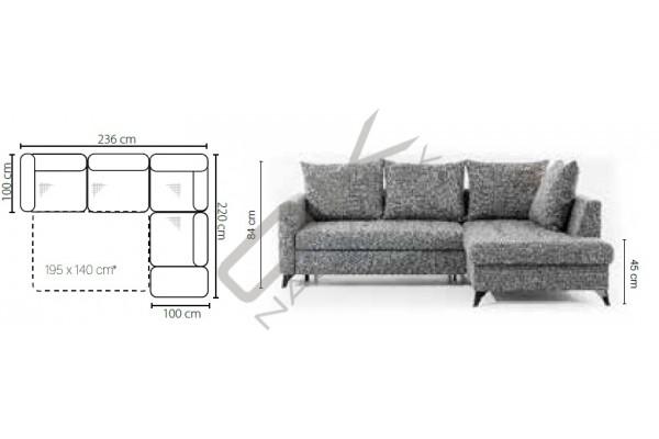 Rohová sedačka TERINI - široký výber farieb