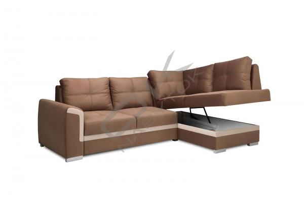 Rohová sedacia súprava VERONA MINI, s funkciou rozkladania a úložným priestorom
