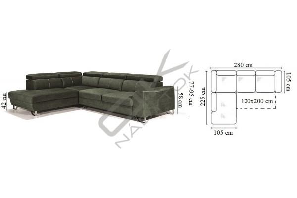 Rohová sedacia súprava ASTI VEĽKÝ ROH