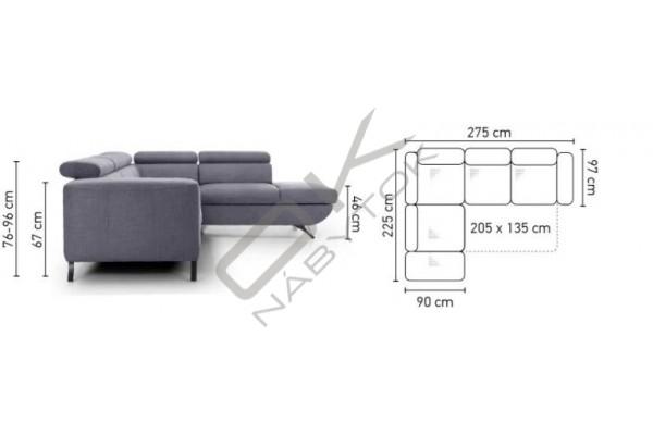 Rohová sedacia súprava ARATTA