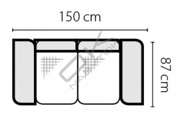 Pohovka BARELLO 2S , s úložným priestorom