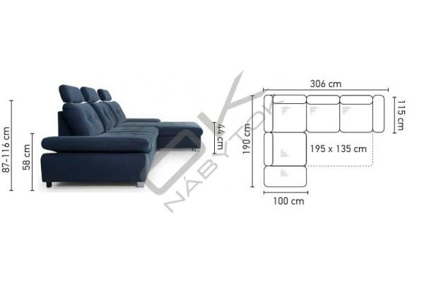 Rohová sedacia súprava CREMONA MALÝ ROH