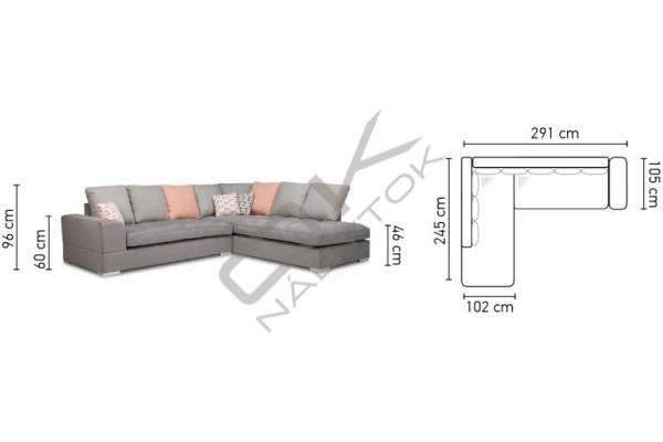 Rohová sedacia súprava FANO