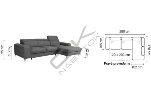 Rohová sedacia súprava GENOVA MALÝ ROH - široký výber farieb