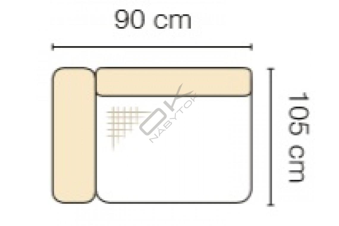 MODUL GENOVA 60BL RECLINER s funkciou elektrického polohovania