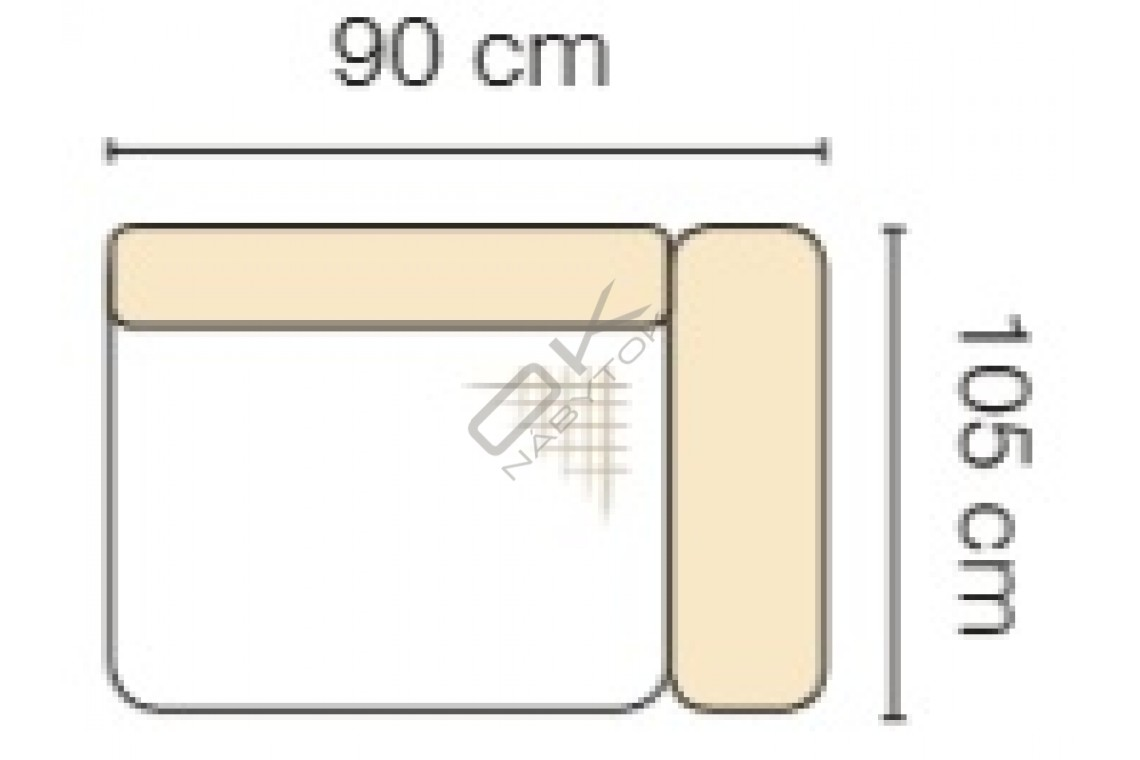 MODUL GENOVA 60BP RECLINER s funkciou elektrického polohovania