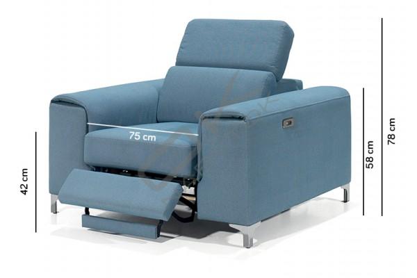 Relaxačné kreslo GENOVA 75BL+BP s funkciou RELAX electric