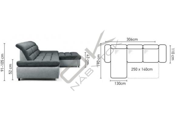 Rohová sedacia súprava ROMA