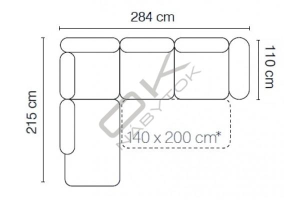 Rohová sedacia súprava ROMA XL - široký výber farieb
